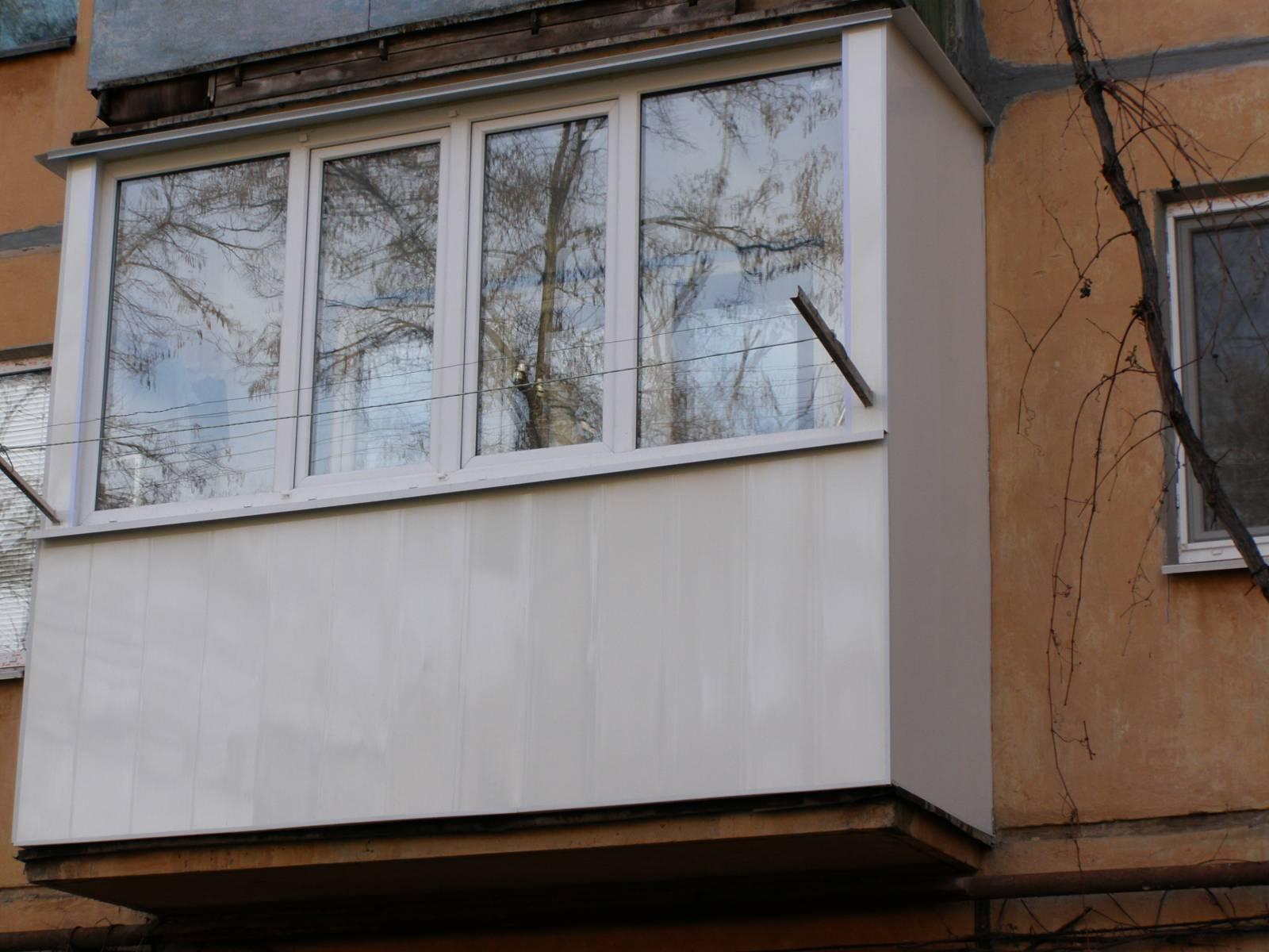 Пошаговая обшивка балкона пластиковыми панелями снаружи..